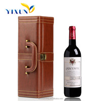Luxury White Custom Cardboard Leather Wine Carrier Box