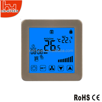 High quality programmable fan coil thermostat with remote controller