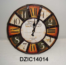 retro hand-made table clock for hanging