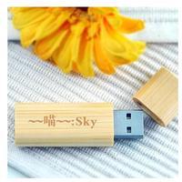 wholesale engraving logo wood usb flash drive for promotional gift