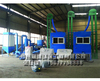 Economic plastic and aluminum recycling and separating production line