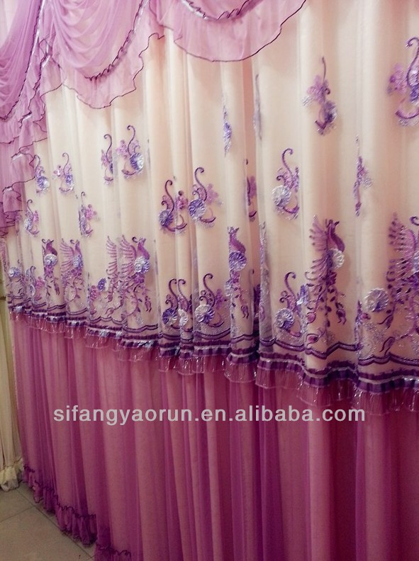 curtains in crochet patterns/lace curtains drapes/luxury embroidery curtain