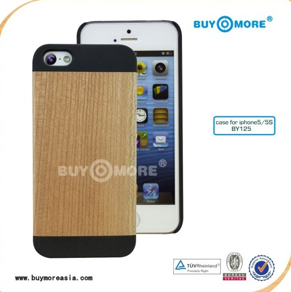 For Blank Bamboo iPhone 5s Case Eco-friendly Ultra Thin Hard Yellow Black Cover for iPhone 5s