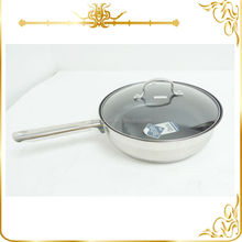 Logo Imprint induction bottom stainless steel frying pan