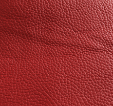 Corrected grain with dollaro emboss thick red cow top leather