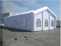 good sales attractive outdoor PVC air inflatable house tent with 0.55mm PVC tarpaulin best quality