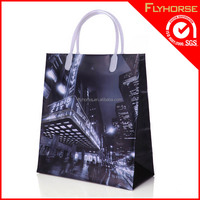 Personalized pvc shopping garment tote bag for men