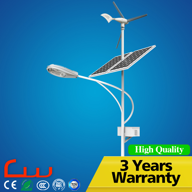 100W wind turbines 30W 6M poly panel solar street light price list
