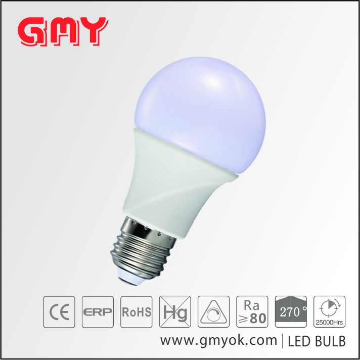 CE Approval Cool white 9W A60 E27 SMD LED bulb for indoor using