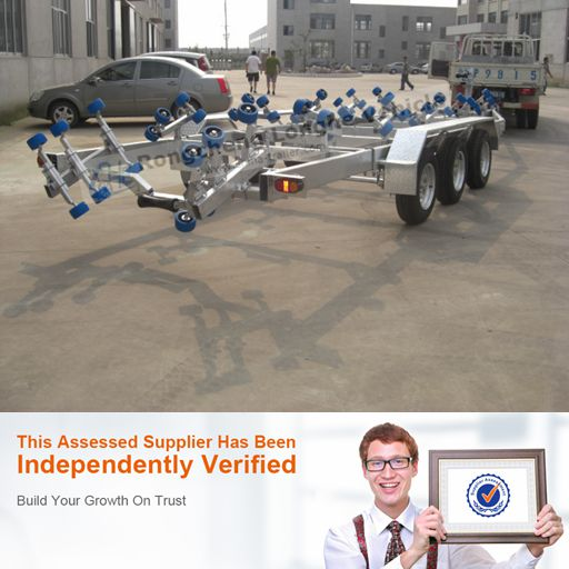 three axle galavanized heavy duty LH9600 boat trailer
