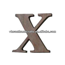 Home outdoor decorative display wooden English letter X