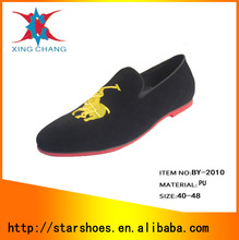 Starshoes Rubber Fashion leather leisure men's clothing of flat shoes