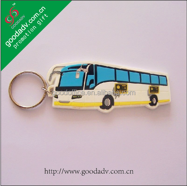 Car shape promotional gifts soft rubber key holder / car rubber key holder