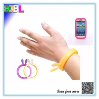 BL-10386 Silicone Phone Case Bracelet Rabbit Designing Hair Band For Girls Factory Direct Price