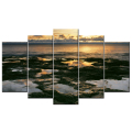 Sunrise on Lake in the Morning Picture Art Print/Wall Decor Canvas Art Print With Stretched Ready to Hang