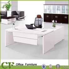 Affordable white melamine classic luxury executive office table for senior executives