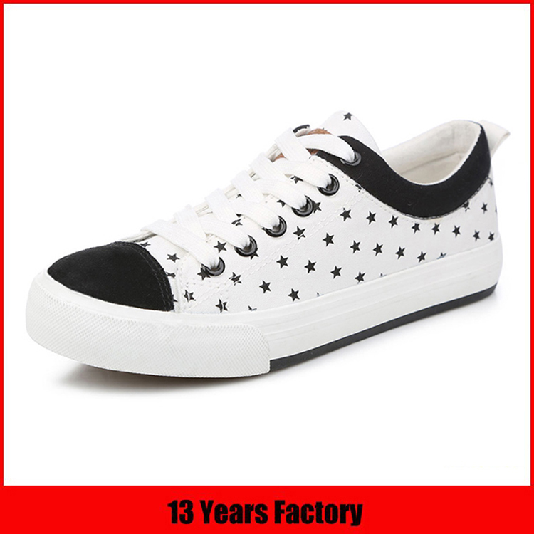 Popular comfortable fashion new model style high quality printed casual canvas shoes