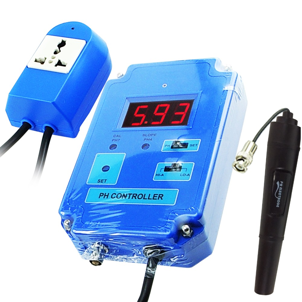 Portable pH <strong>Controller</strong> Meter Tester with optional HI/LO Action and Replaceable Electrode