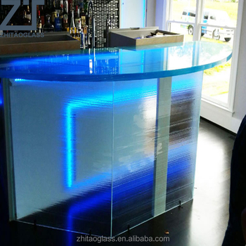 Luminous Glass Counters tops with LED Lighting
