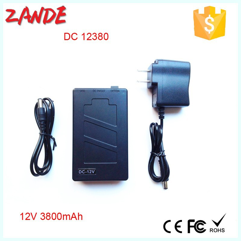 Portable DC 12V 3800mAh Rechargeable Li-ion Battery for CCTV Camera Wireless Camera/Baby Monitor, Digital Camera, CD/MD