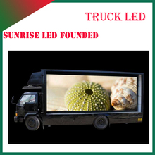 10mm Pixels Full Color Epistar Chip truck mobile advertising led display
