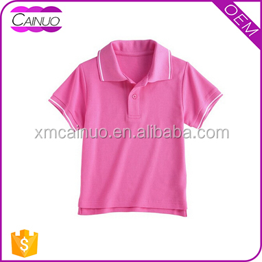 Pink Polo T-Shirts Custom Make Child Size Manufacturers