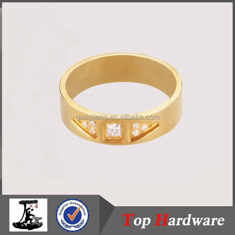 Couples Stainless Steel Gold Ring Gold Plated jewellery, Engagement Ring, Wedding Ring