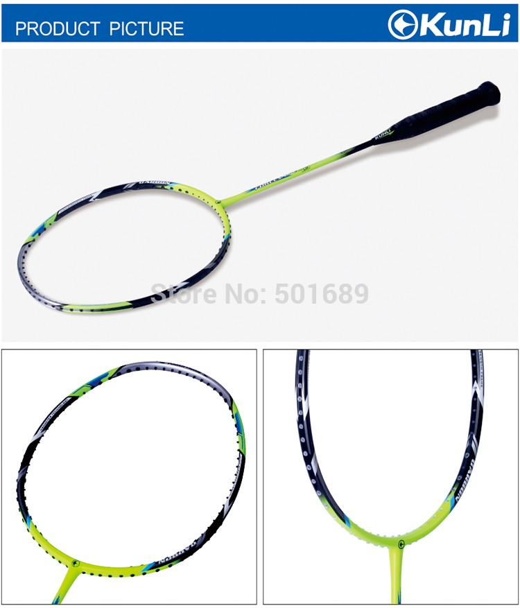 KUNLI 79 offensive and defensive badminton racket full carbon professional TB NANO technology feather racket