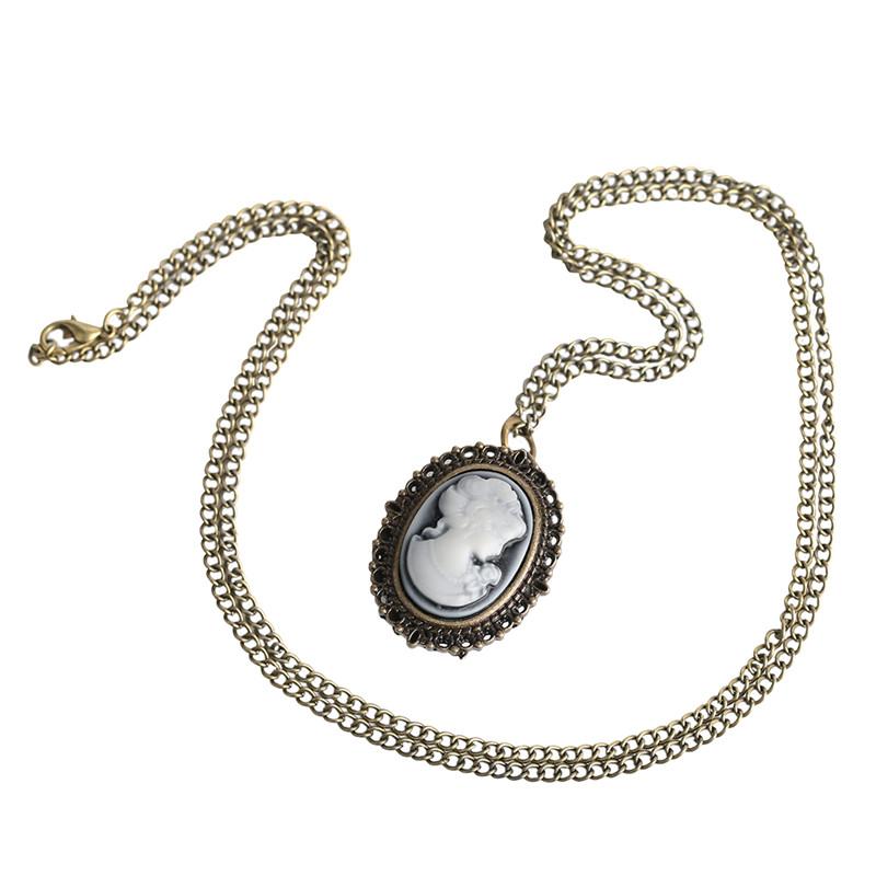 Vintage Elegant Pretty Beautiful Women Pattern Small Mini Quartz Pocket Watch for Lady Girl Neckalce Pendant Female Clock P62 (5)