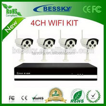 hd security system 8chs hd-ahd camera kit cctv camera with cat6 cable onvif ip camera with nvr software