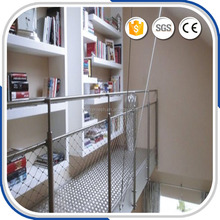 Building decor ferruled stainless steel wire rope mesh net