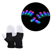 Flashing Gloves Glow LED Rave Light Finger Lighting Toy finger led gloves Christmas Party Supplies LG004