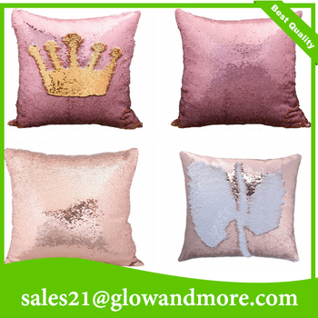 Free Shipping Sequin fabric Decoration Sofa Mermaid Pillow Handmade Sequin Mermaid Pillow