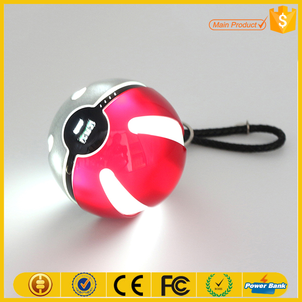 hot products 2016 10000mah pokemon power bank pokeball USB charger for iphone 7 plus battery case
