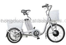 China Electric Trike with front and rear basket for old people