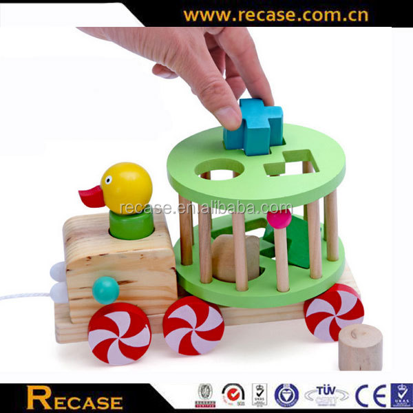 2016 Newest kids wooden pull and push toy,Imitate wooden Toys pull along duck & egg,Hot sale wooden pull toy