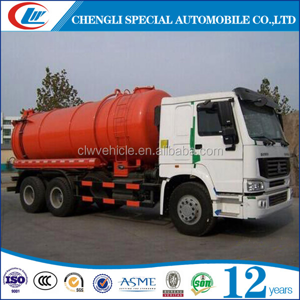 12tons 14tons 15tons Vacuum sewage tank truck Sewer cleaning truck for sale