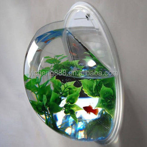 semicircle shape Aquarium Wall Mounted Acrylic <strong>Fish</strong> Tank
