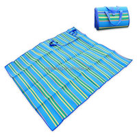 "Picnic Blankets 100% PP Woven Waterproof Sleeping Pad Handy Camping Mat with Strap,59"" x 79"" [Lightweight]"
