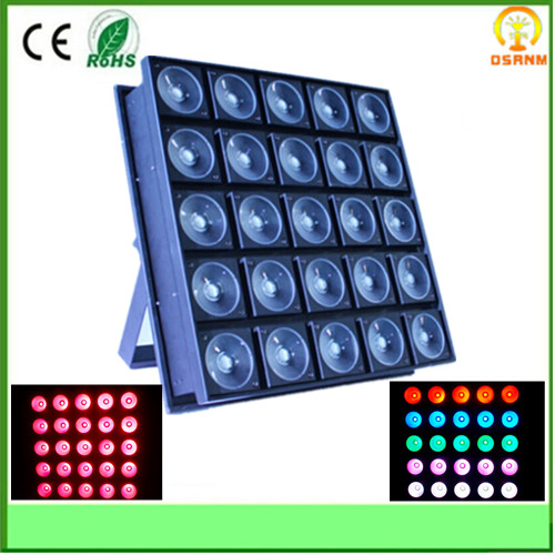 hot stage disco lighting 25x30w 3in1 rgb led matrix