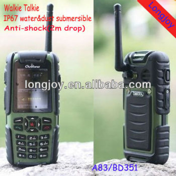 Bluetooth Three-Anti Army Mobile Phone With Walkie Talkie Function GPS Optional