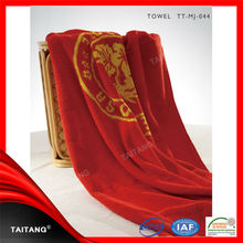 High quality 100% cotton emboridered luxury bamboo fibre bath towels