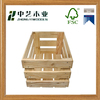 Wholesales handmade large China cheap unfinished open style pine wooden crate