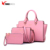 2018 wholesale new fashion 3 pieces in 1 women clutch bag hannndbag elegent pu lady fashion handbag