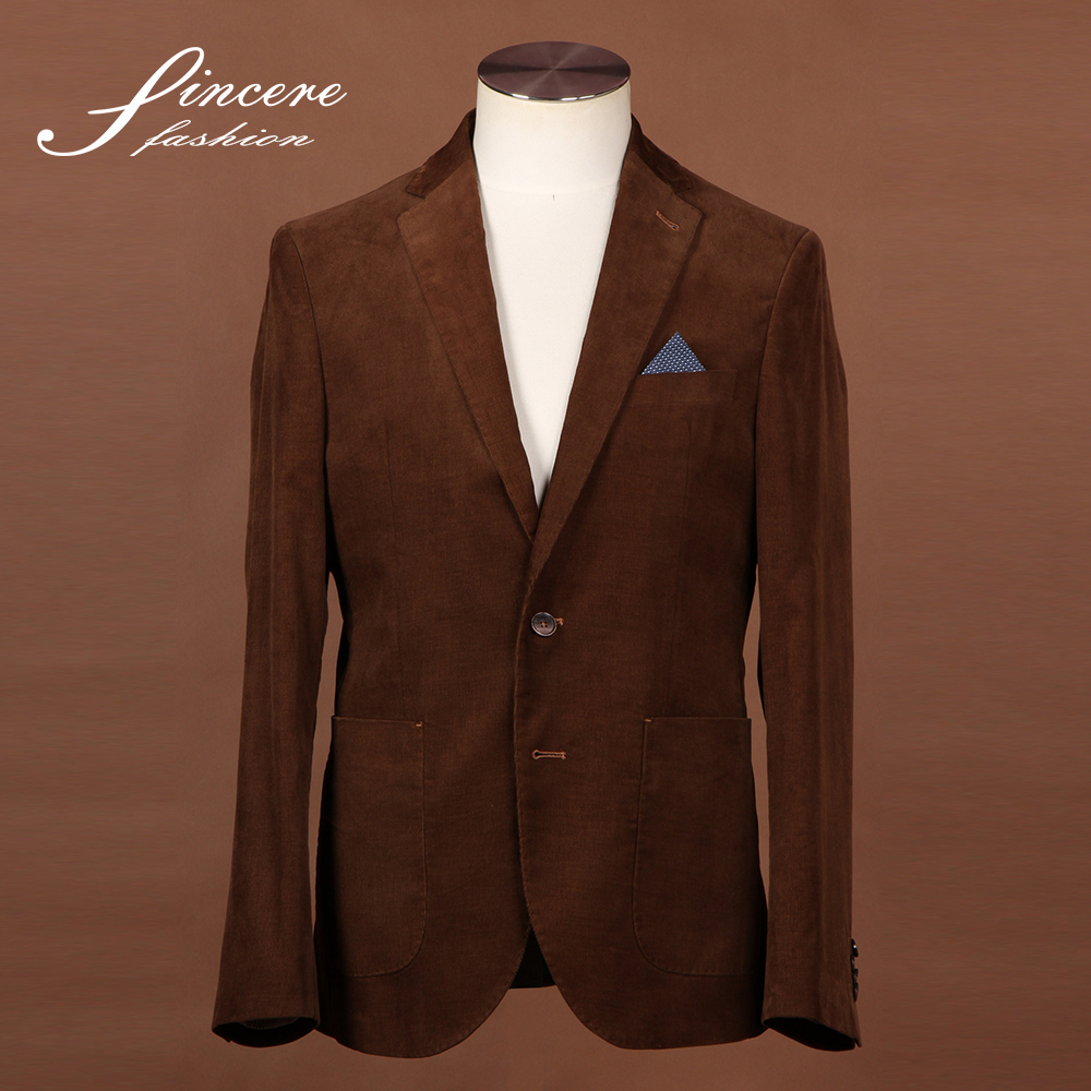 Men's Coffee jacket Corduroy jacket 100% Cotton Jacket