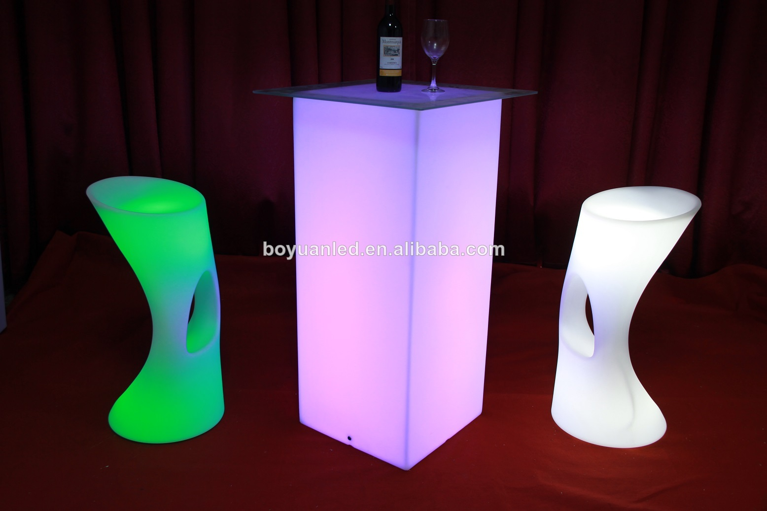 Camping En Plastique Tabouret De Bar Chaise Haute Led