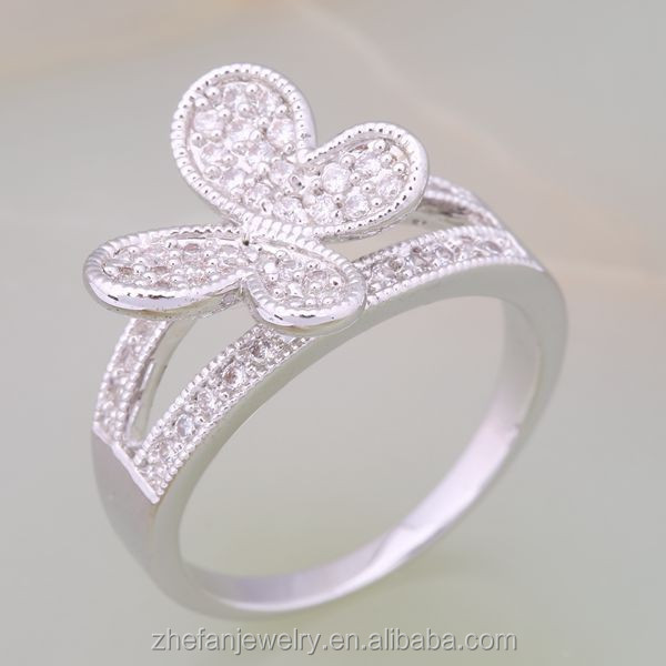New Arrival Promotional size 13 rings for women with silver