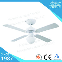 "42"" Decor Wooden Blades White Ceiling Fan with Light"