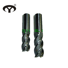 High speed steel 4 flutes end mills with straight shank