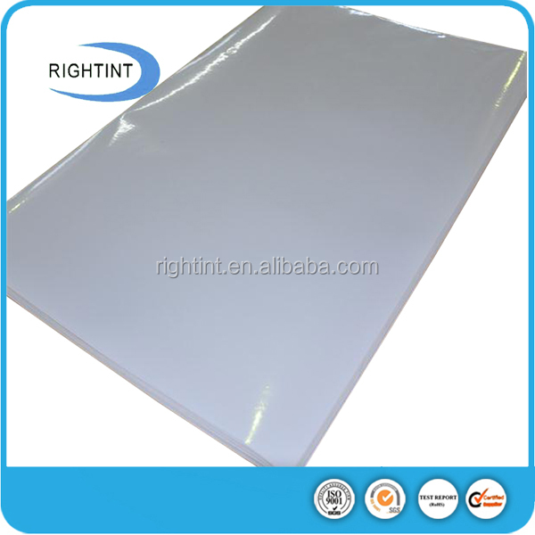 80micron white self-adhesive PVC with solvent for mirror sticker paper